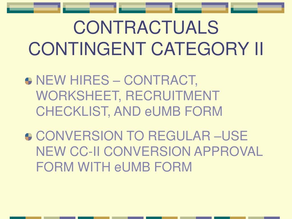 CONTRACTUALS