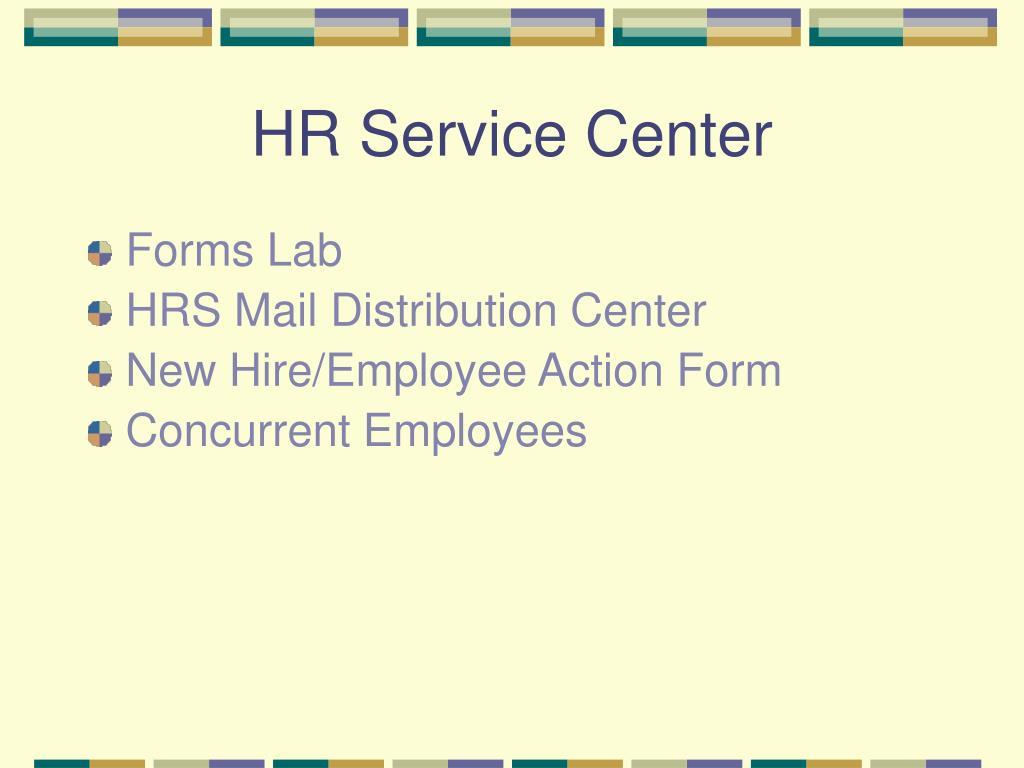 HR Service Center