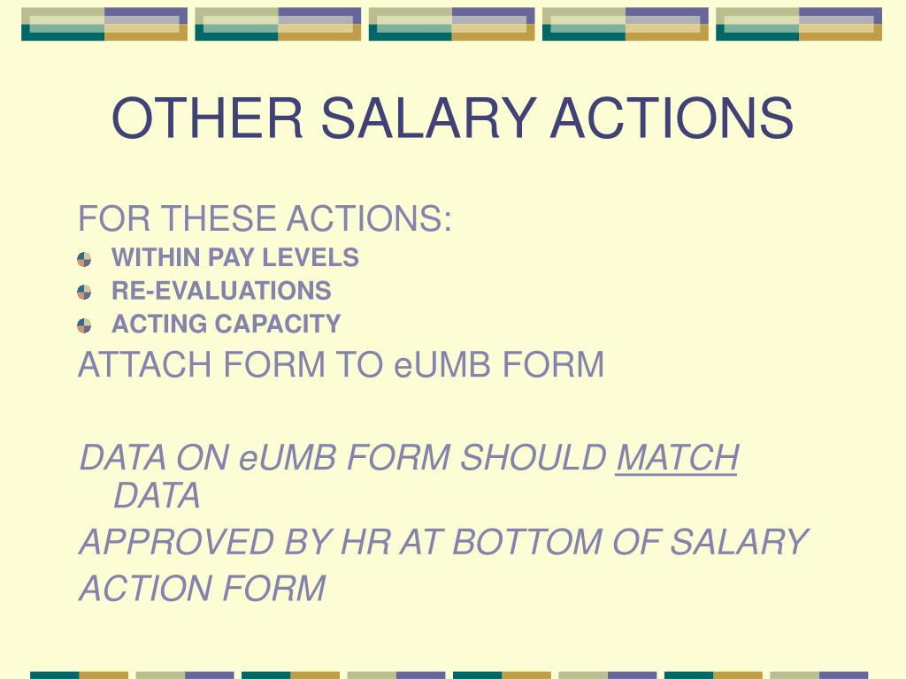 OTHER SALARY ACTIONS