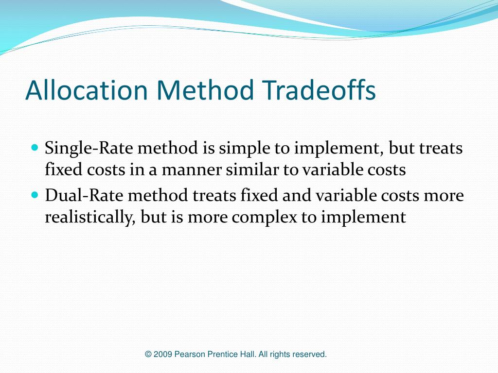 Allocation Method Tradeoffs