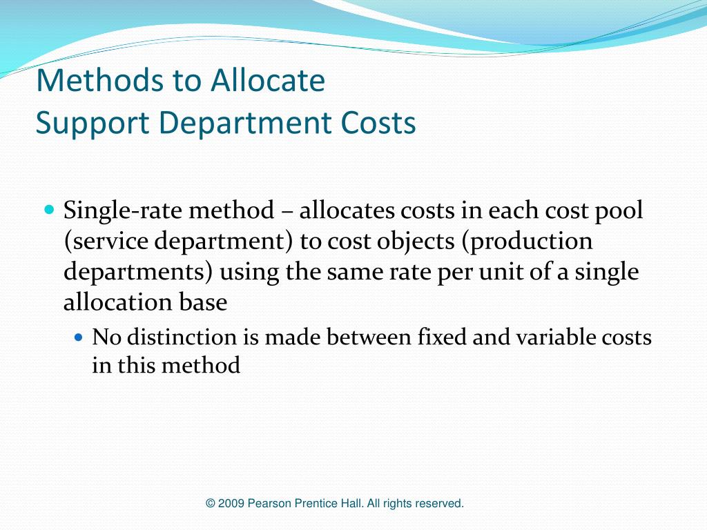 Methods to Allocate