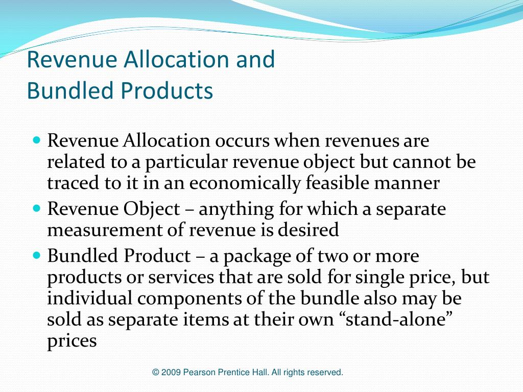 Revenue Allocation and