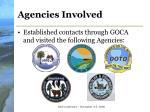 agencies involved