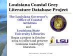 louisiana coastal grey literature database project