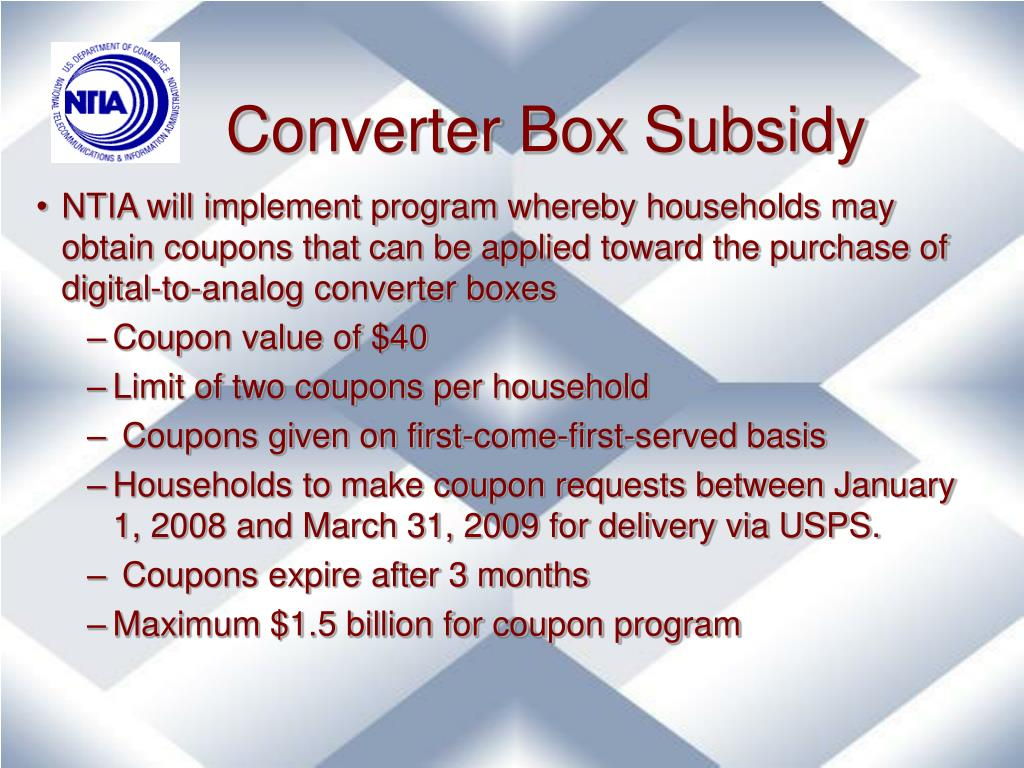 Converter Box Subsidy
