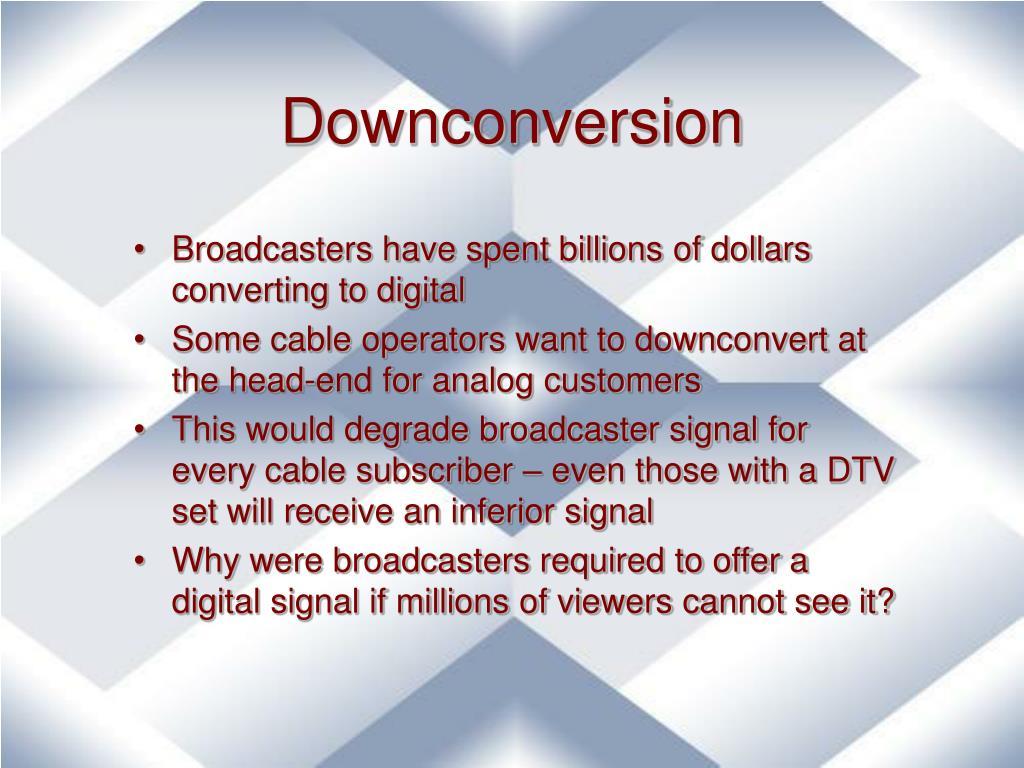 Downconversion