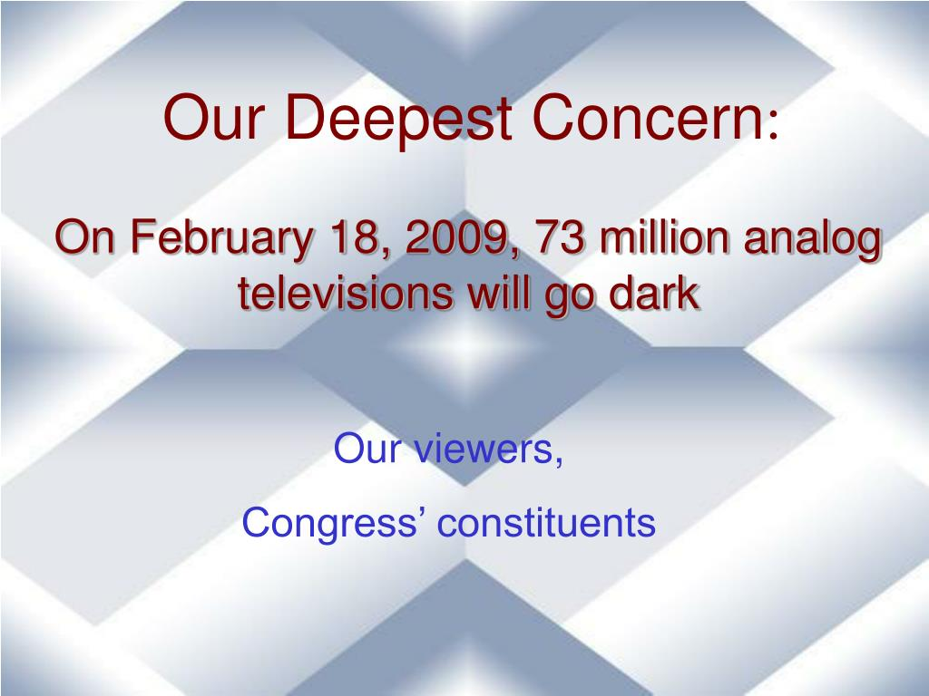 Our Deepest Concern