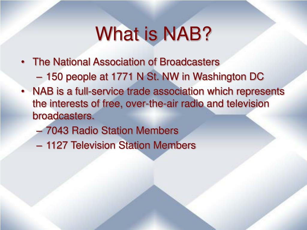 What is NAB?