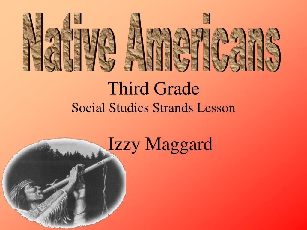 third grade social studies strands lesson l.