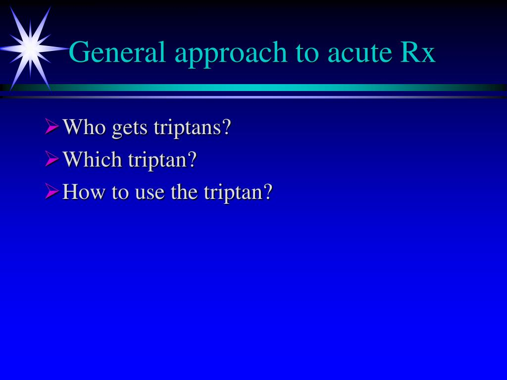 General approach to acute Rx