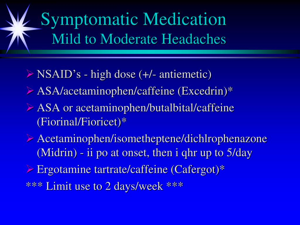 Symptomatic Medication