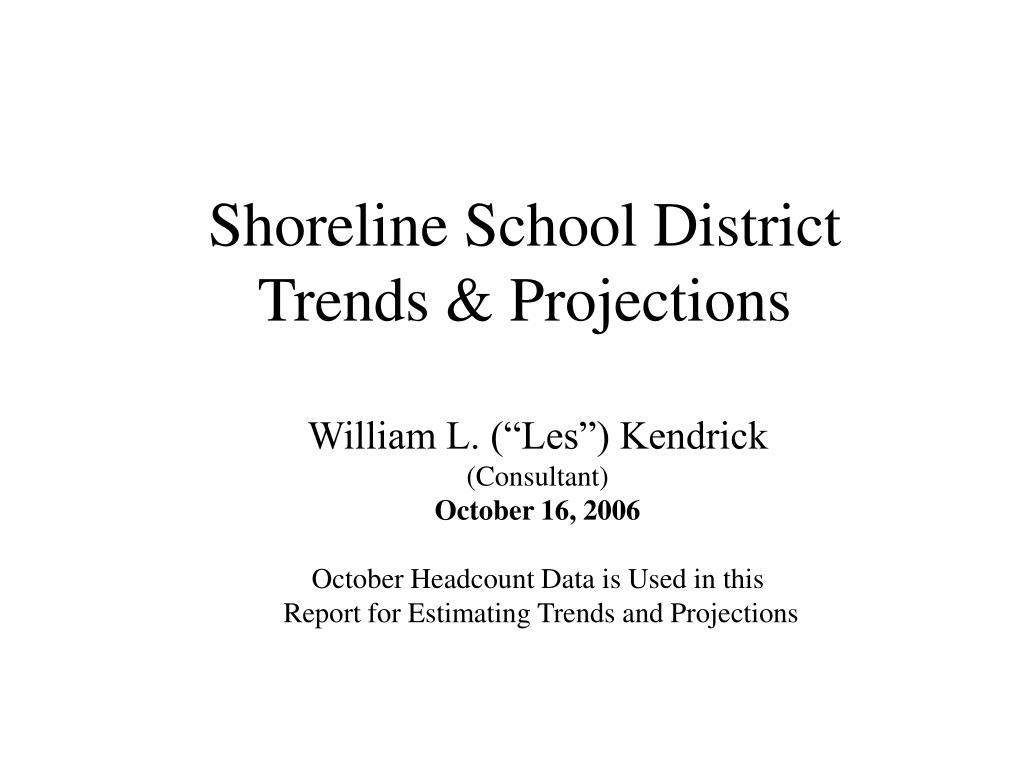 shoreline school district trends projections
