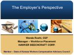 the employer s perspective