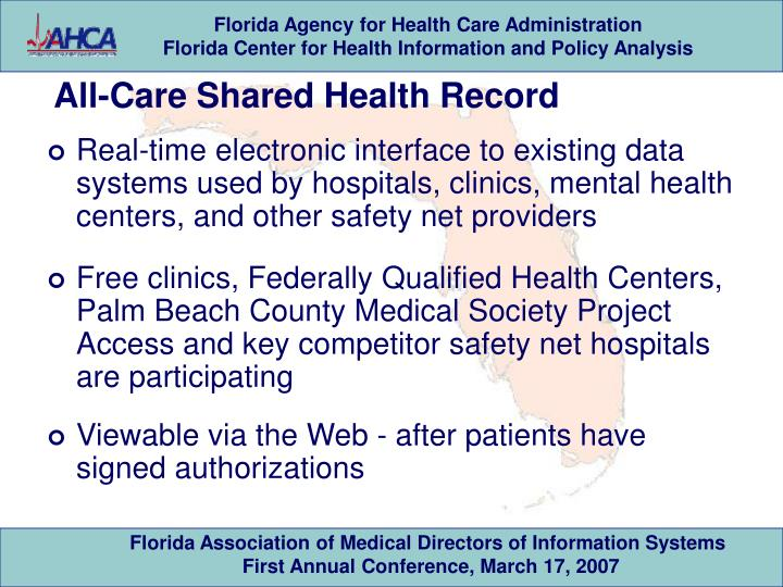 All-Care Shared Health Record