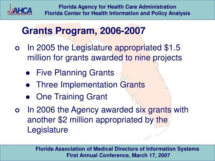 Grants Program, 2006-2007