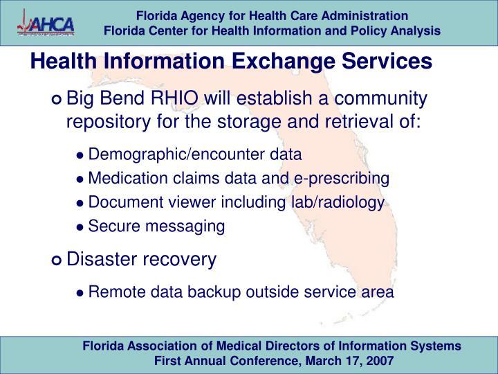 Health Information Exchange Services