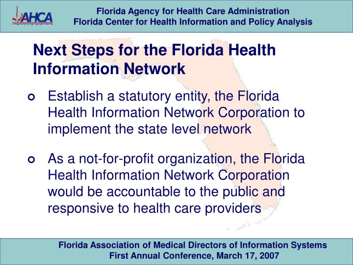 Next Steps for the Florida Health Information Network