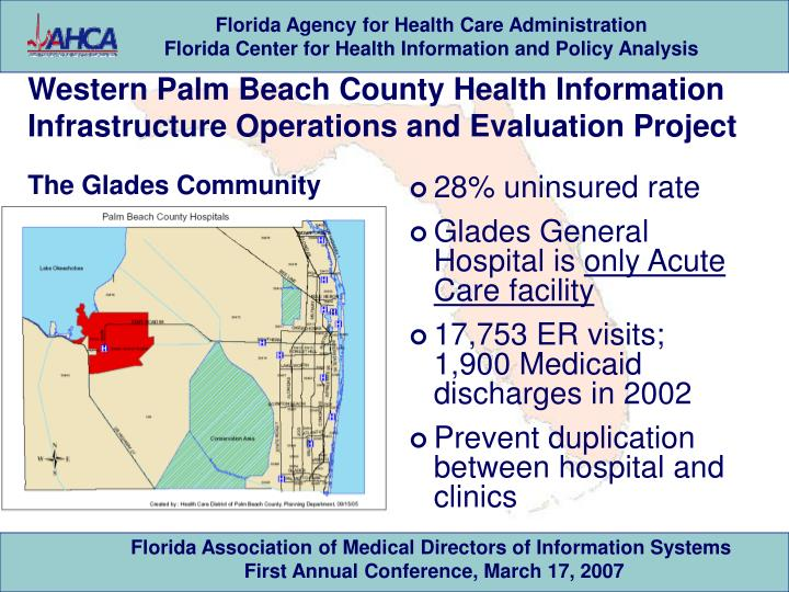 Western Palm Beach County Health Information Infrastructure Operations and Evaluation Project