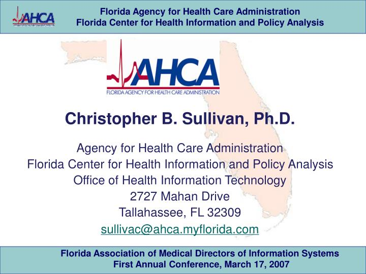 Christopher B. Sullivan, Ph.D.