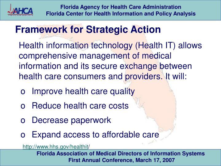 Framework for Strategic Action