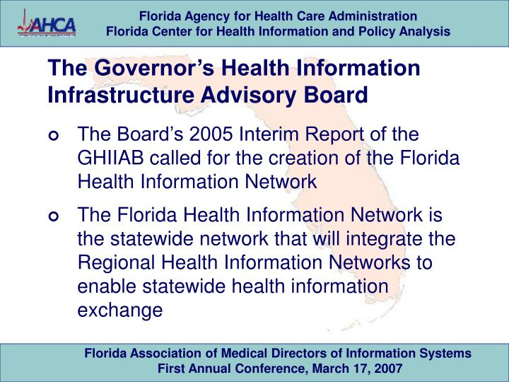 The Governor's Health Information Infrastructure Advisory Board