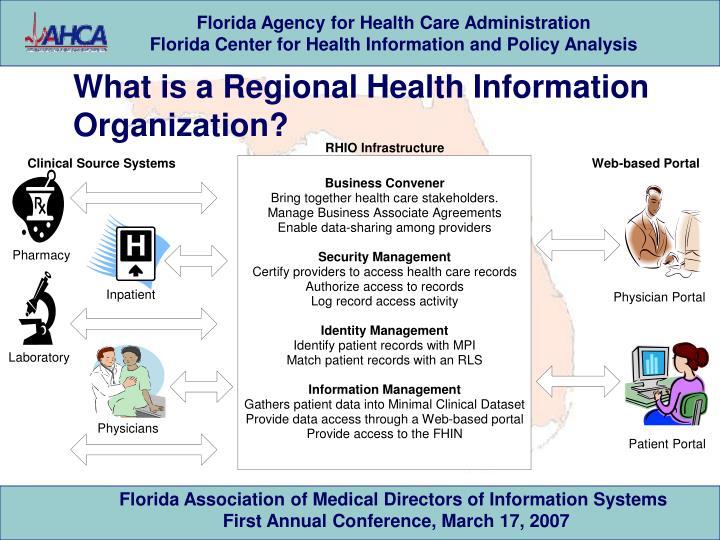 What is a Regional Health Information Organization?
