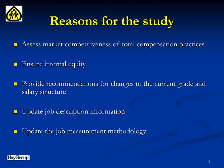 Reasons for the study