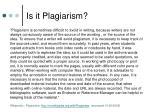 is it plagiarism10
