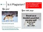 is it plagiarism7