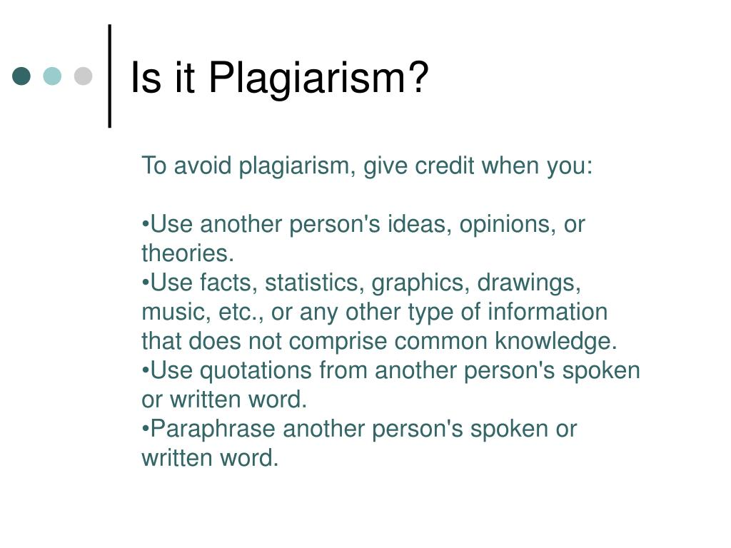 Is it Plagiarism?
