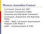 western australian context