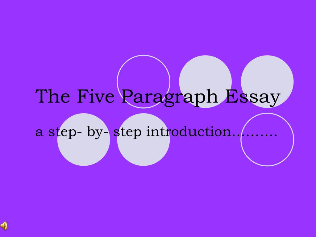 the five paragraph essay l.