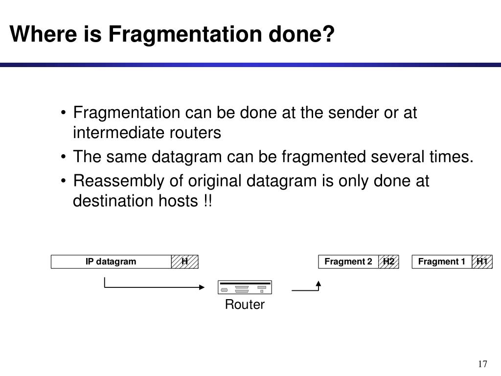 Where is Fragmentation done?