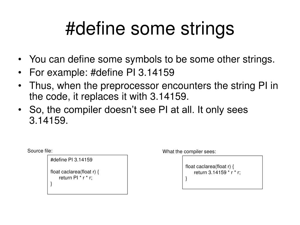 #define some strings