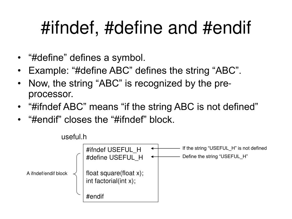 #ifndef, #define and #endif