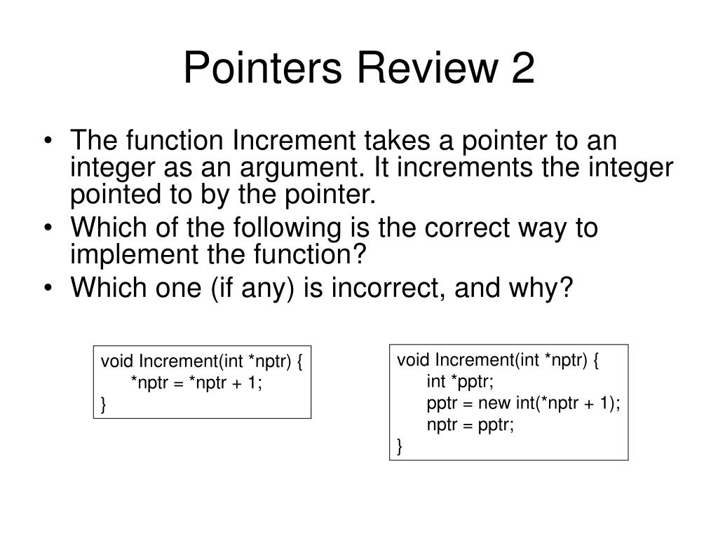 Pointers Review 2
