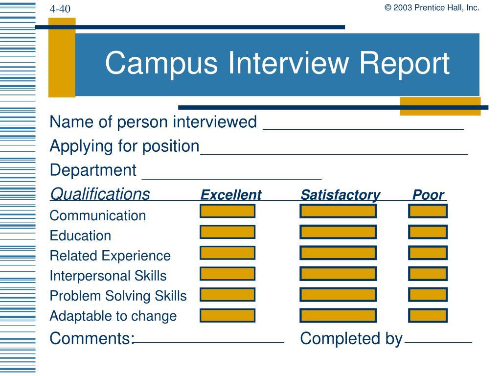 Campus Interview Report