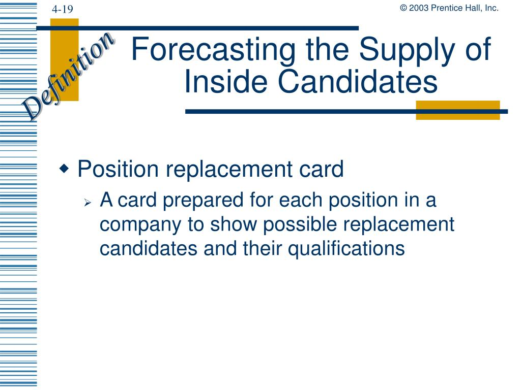 Forecasting the Supply of Inside Candidates