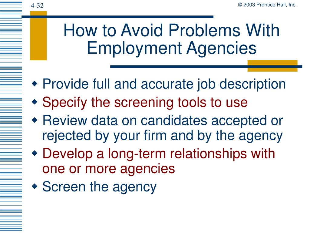 How to Avoid Problems With Employment Agencies