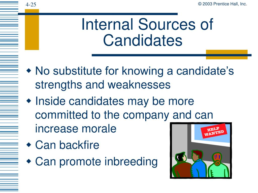Internal Sources of Candidates