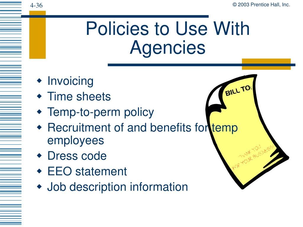 Policies to Use With Agencies