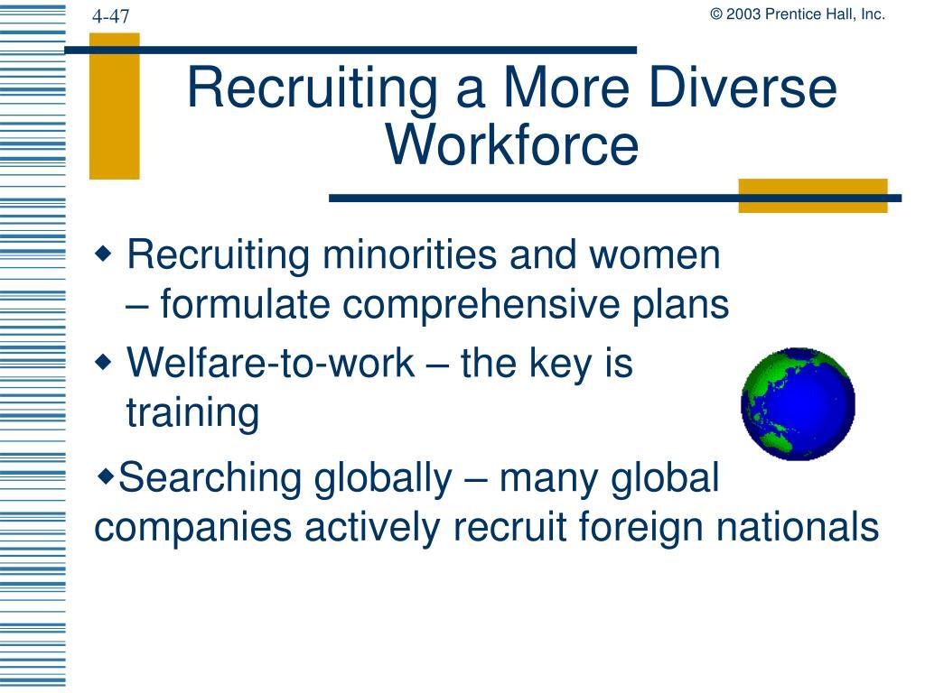 Recruiting a More Diverse Workforce