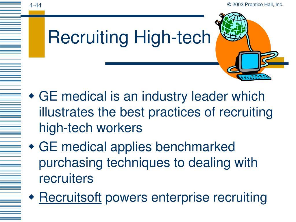 Recruiting High-tech