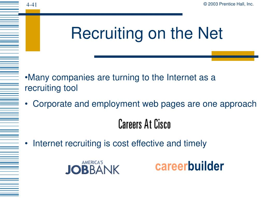 Recruiting on the Net