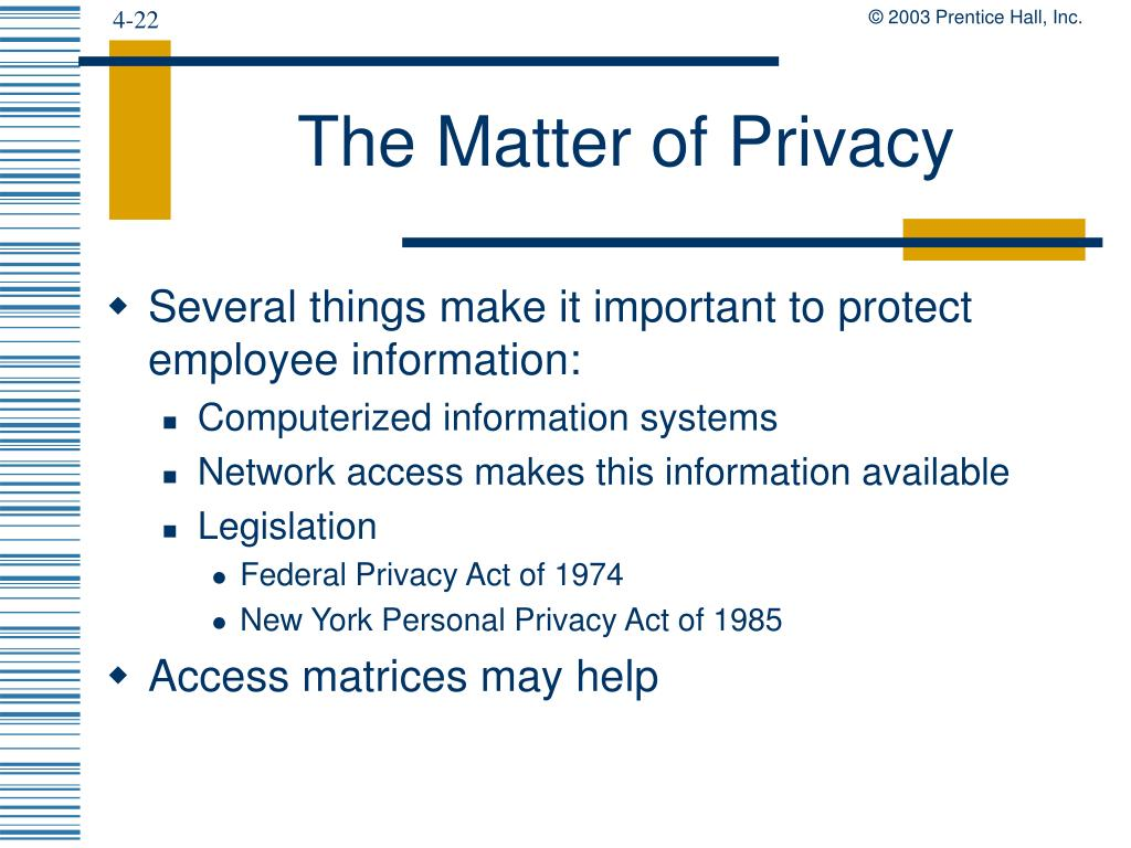 The Matter of Privacy