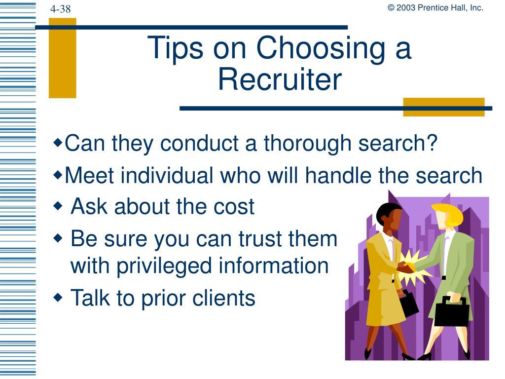 Tips on Choosing a Recruiter