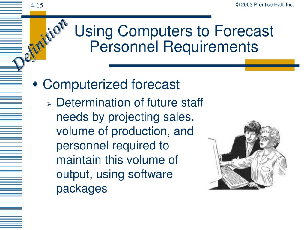 Using Computers to Forecast Personnel Requirements