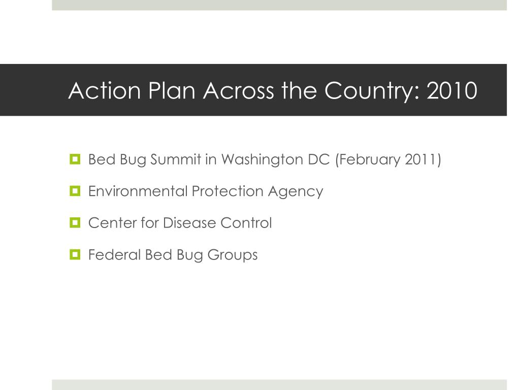 Action Plan Across the Country: 2010