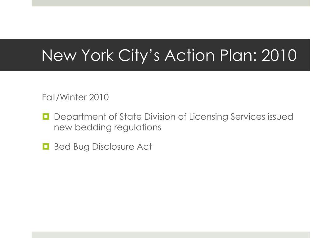 New York City's Action Plan: 2010