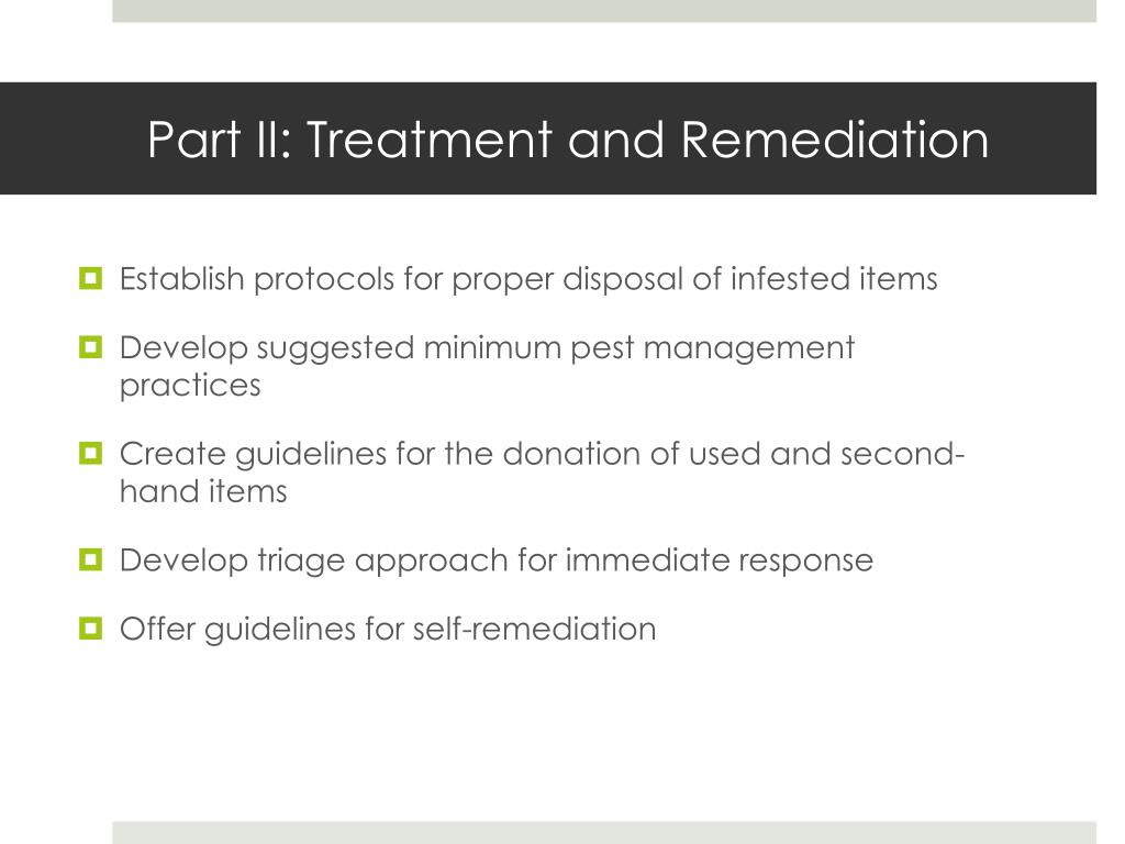 Part II: Treatment and Remediation